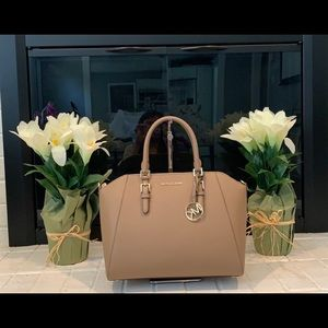 Michael Kors Large Satchel Dark Khaki